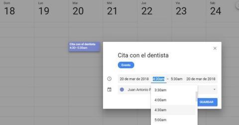 Cómo crear un evento en el calendario de Google