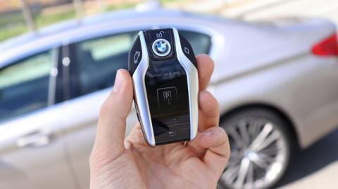 La llave que trae el Serie 5 de BMW