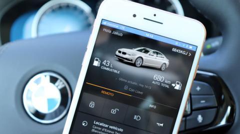 La aplicación de BMW Connected en el iPhone