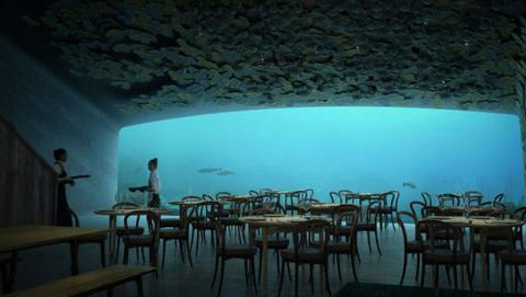 Este es el primer restaurante submarino de Europa