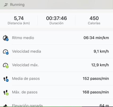Sesión de running con Runtastic