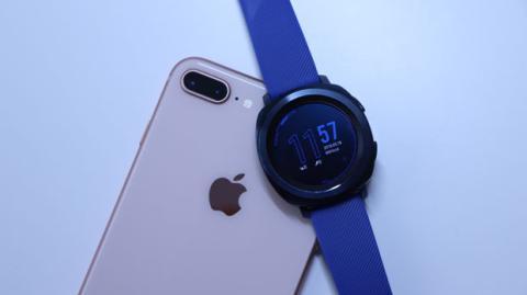 Samsung Gear Sport conectado a un iPhone