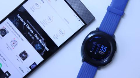 El reloj Gear Sport conectado a un móvil Android