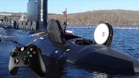El submarino nuclear USS Colorado utiliza el gamepad de Xbox