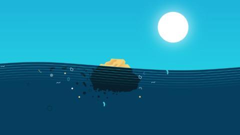 Tamaño de la isla de basura del Pacífico.