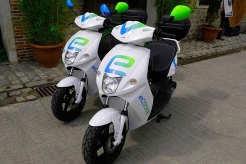 Motos de motosharing en Madrid