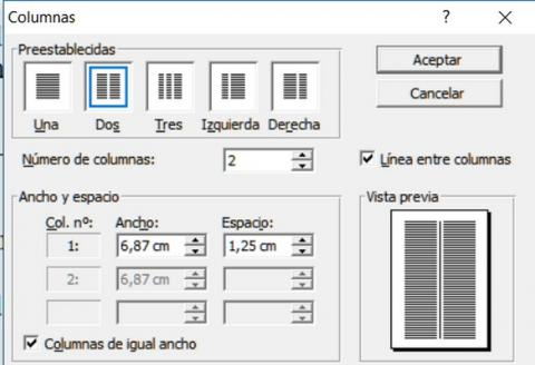 Cómo dividir un documento de Word en dos columnas