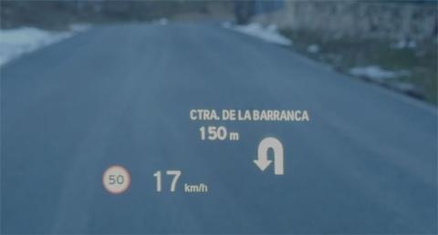 Head-up Display del BMW i8