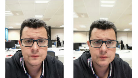 Foto hecha con P20 Lite - comparativa selfie bokeh