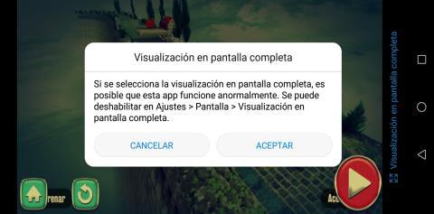 Huawei P20 Lite - cambio a pantalla completa