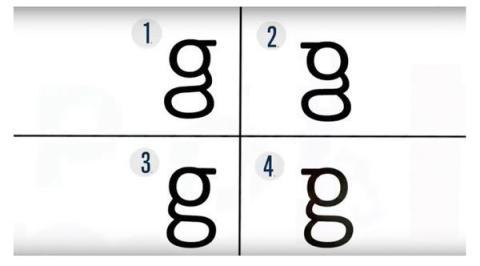 ¿Sabes escribir la letra g?