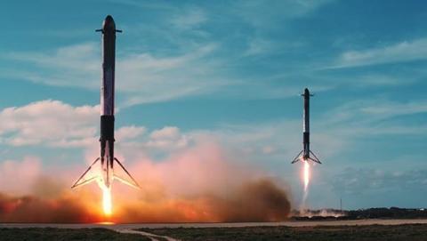 Imágenes desde el espacio de los cohetes de SpaceX