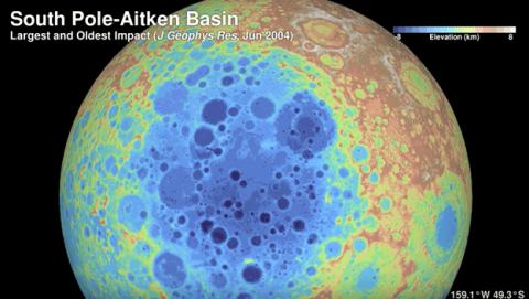 Sobrevolar la Luna resolución 4K