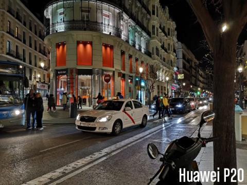 Fotografía nocturna tomada con el Huawei P20