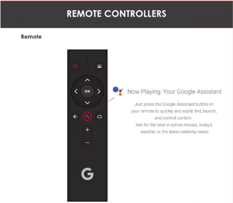 Control remoto Android TV 4k
