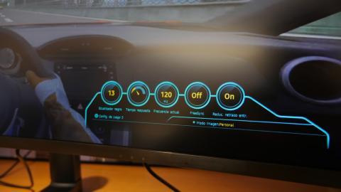 Samsung CHG90 QLED Gaming Monitor - OSD