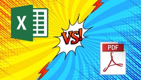 Qué diferencias hay entre los formatos XLS y PDF