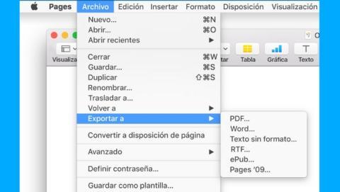 Cómo convertir un archivo PAGES a PDF