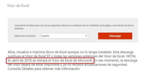 Descarga el Visor de Excel ahora mismo, desaparece este mes