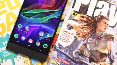 Detalle de la pantalla del Razer Phone