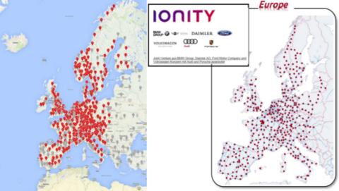 Supercargadores de Tesla vs Carga rápida de Ionity