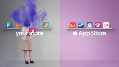 Anuncio de Apple critica a Android.
