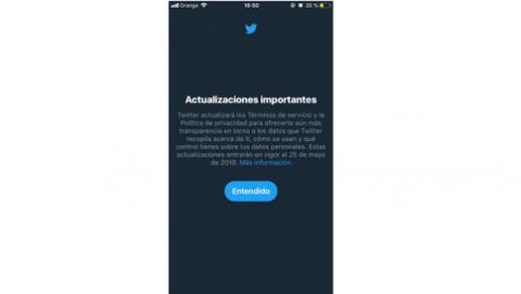 Nueva política privacidad Twitter