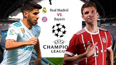 Cómo ver online el Madrid vs Bayern de Champions League.