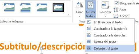 Cómo insertar y acomodar imágenes dentro del texto en Word
