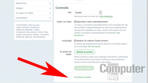 Cómo desactivar tu cuenta de Twitter