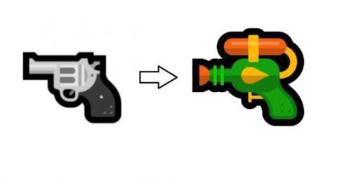 emoji pistola microsoft