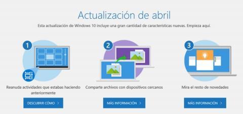 Ya puedes descargar Windows 10 April 2018 Update, te explicamos cómo