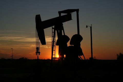 Bomba de extracción de petróleo en Monahans, Texas, EEUU.