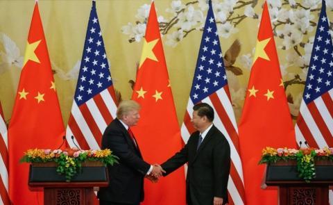 Trump y Xi Jinping durante una visita de Estado