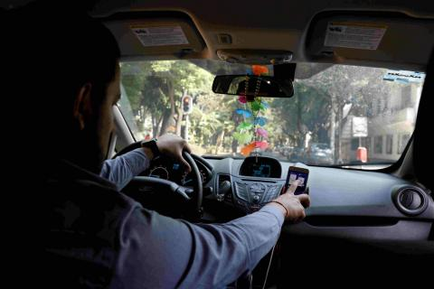 Un usuario de Uber