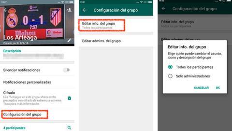 Whatsapp restringir grupos