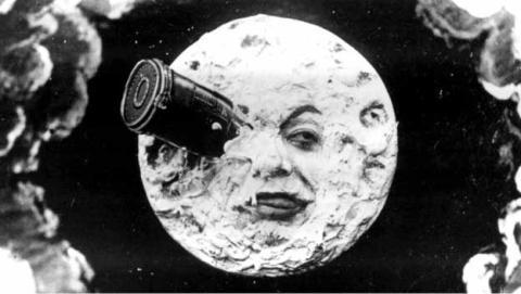 viaje a la luna doodle