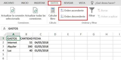 Cómo ordenar datos en Excel
