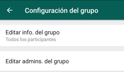Actualización grupos de WhatsApp