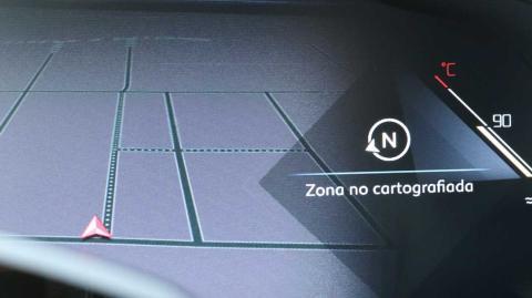 Así es la vista del navegador en el cuadro de instrumentos del DS 7