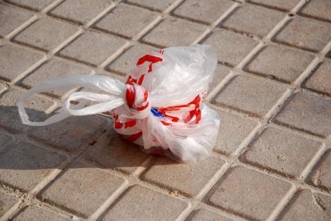 Una bolsa de plástico