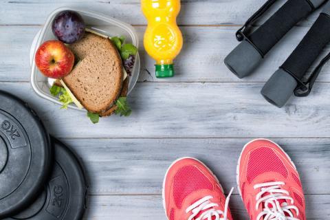 Comida deporte y ejercicio