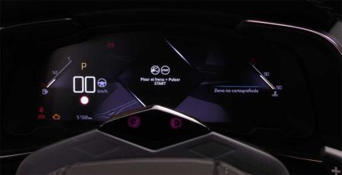 El cuadro de instrumentos cien por cien digital del DS 7 Crossback