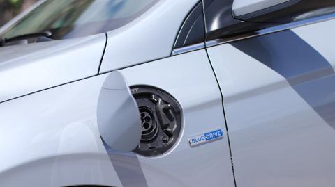 Enchufe Mennekes del Hyundai Ioniq
