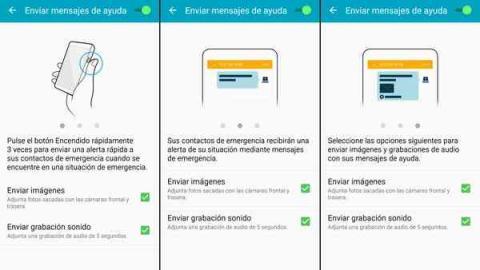 Galaxy J7 2017: Contactos de emergencia