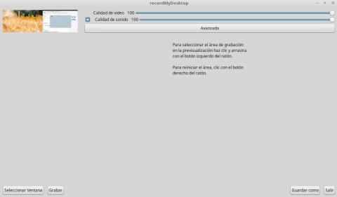 Grabar pantalla Linux