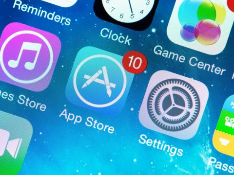 Icono de la App Store en un iPhone