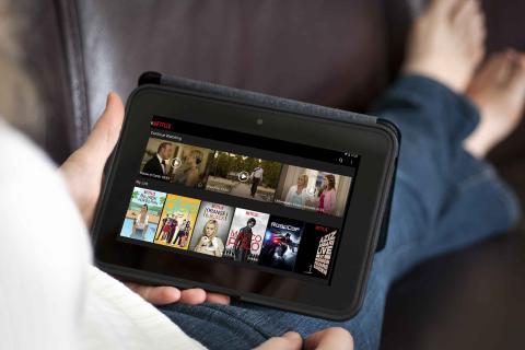 Interfaz de Netflix en tablet