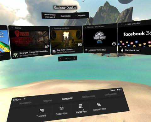 Interfaz de Oculus Go