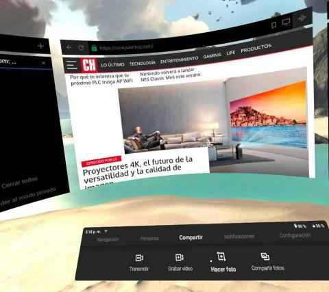 Navegador de Oculus Go